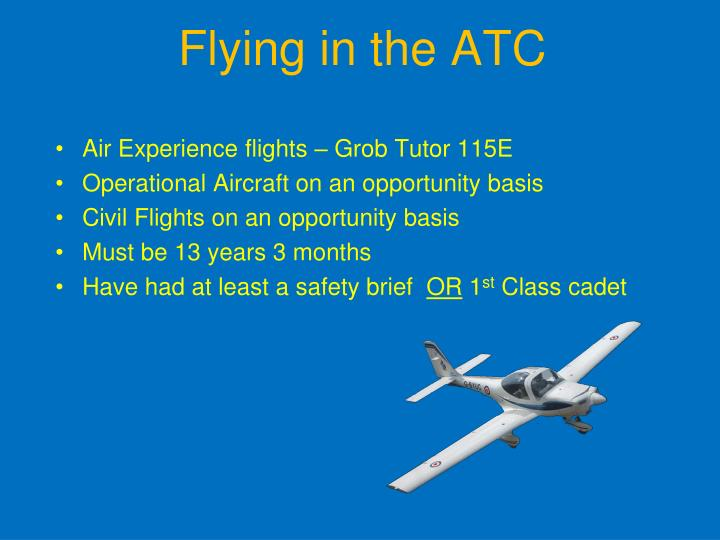 Flying in the atc