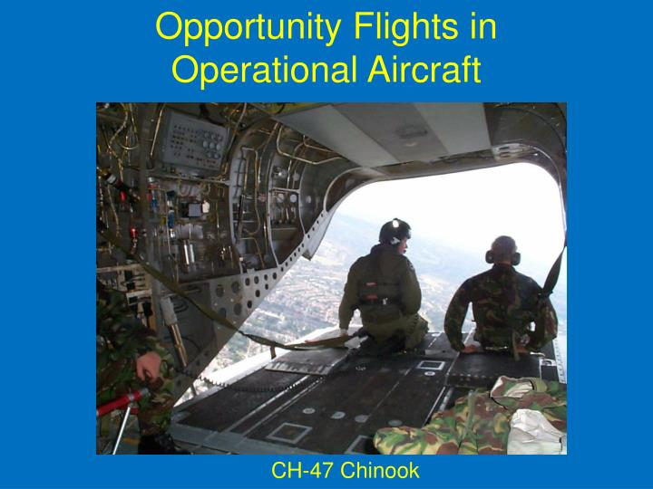 Opportunity Flights in