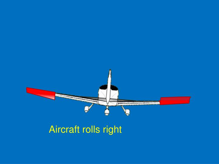 Aircraft rolls right