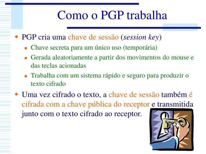 Como o PGP trabalha