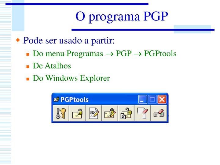 O programa PGP