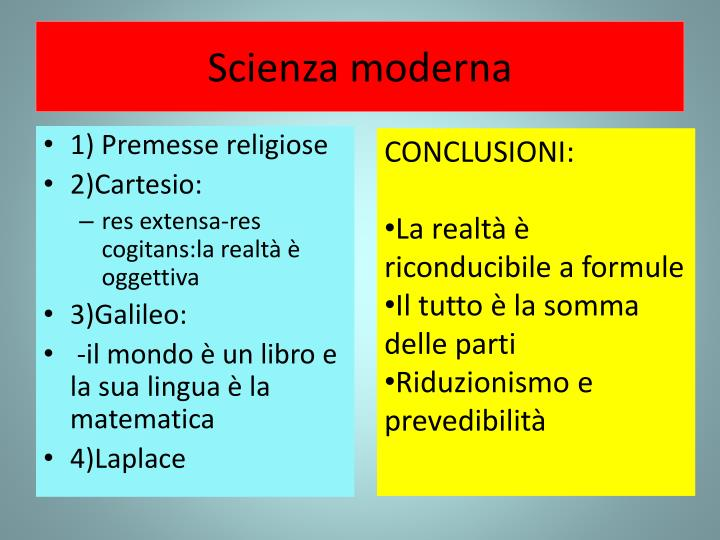 Scienza moderna