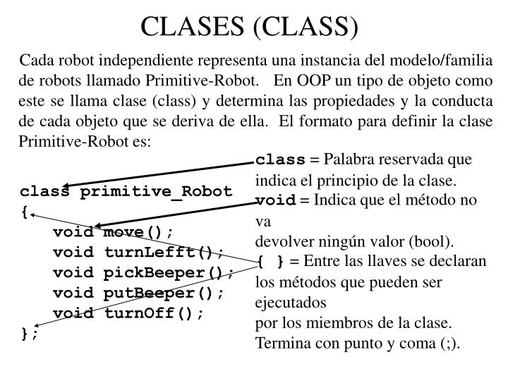 CLASES (CLASS)