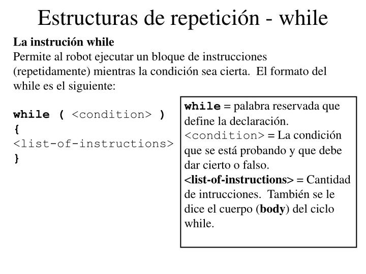 Estructuras de repetición - while