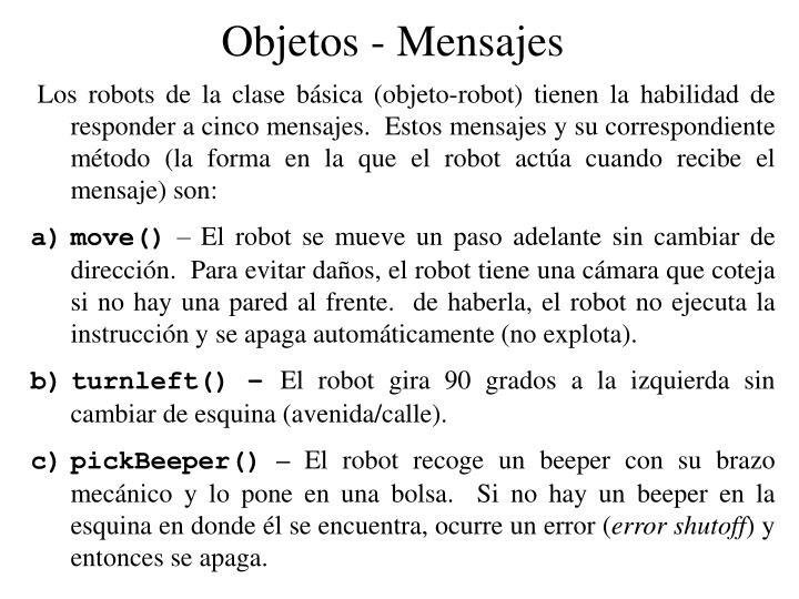 Objetos - Mensajes