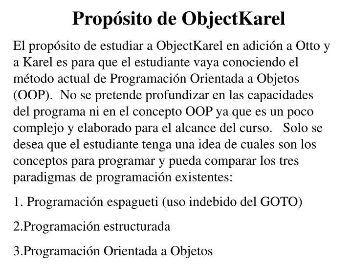 Propósito de ObjectKarel