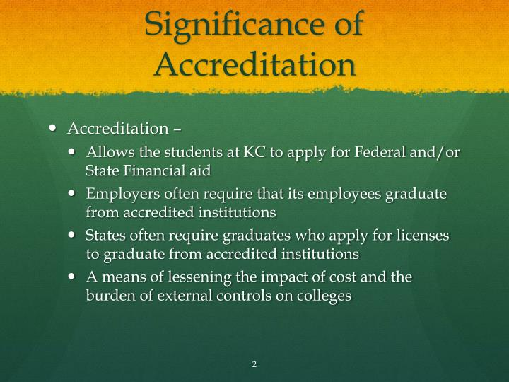 Significance of Accreditation