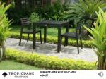 sunqueen chair with patio table 80x80cm