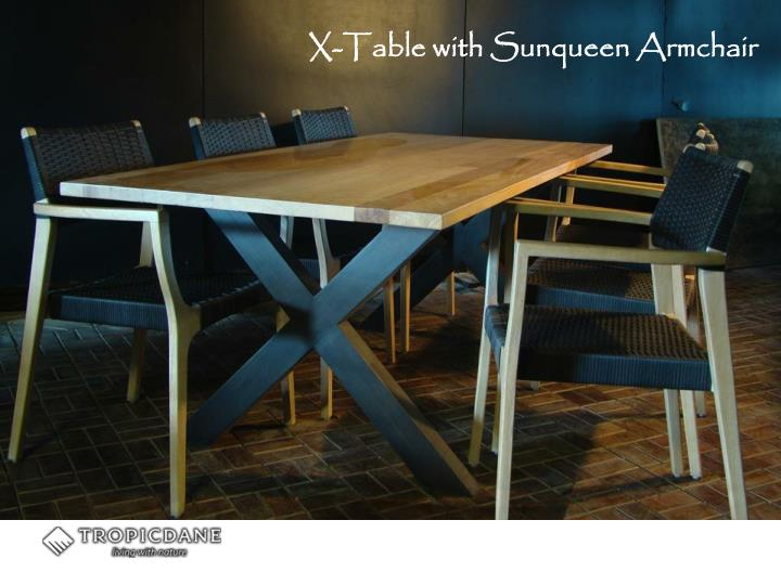 X-Table with Sunqueen Armchair