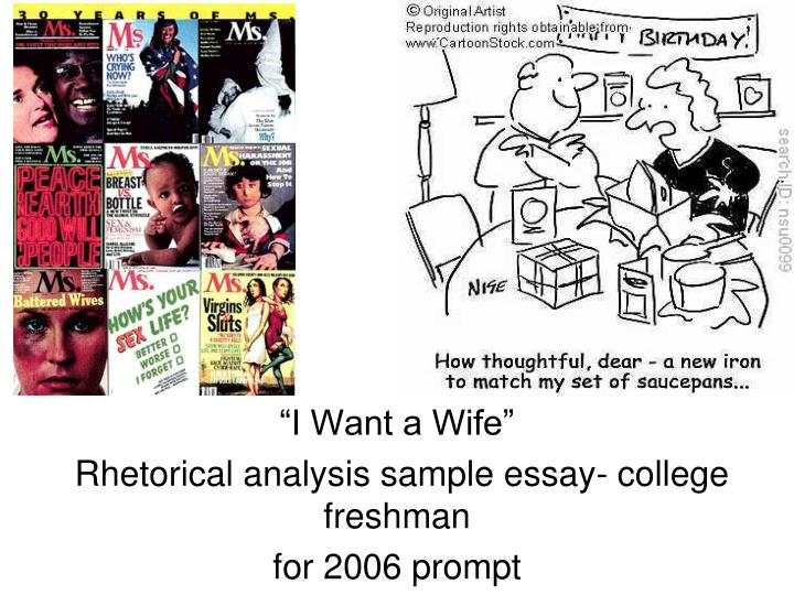 argumentative essay on i want a wife The analysis of i want a wife english literature essay i want a wife who she establishes her credibility in the first couple of paragraphs of her argument.