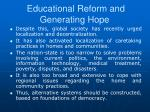 educational reform and generating hope1