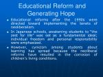 educational reform and generating hope2