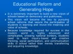 educational reform and generating hope3