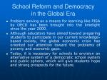 school reform and democracy in the global era1