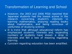 transformation of learning and school2