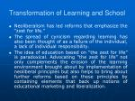 transformation of learning and school4