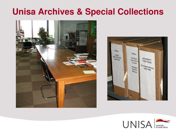 Unisa Archives & Special Collections