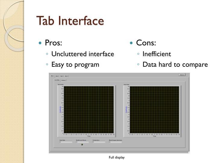 Tab Interface