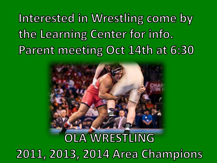 Interested in Wrestling come by the Learning