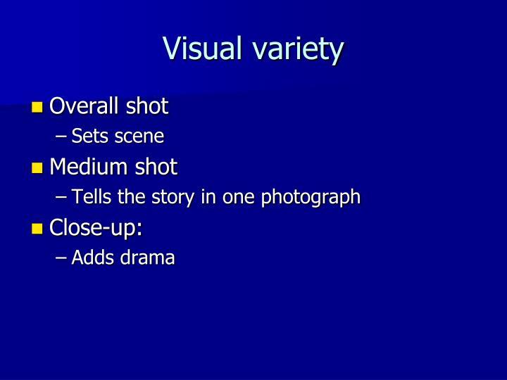 Visual variety