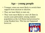 age young people
