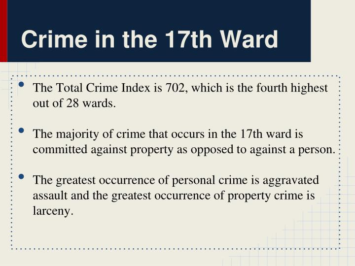 Crime in the 17th Ward