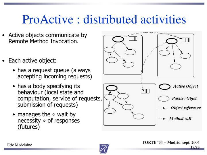 ProActive : distributed activities