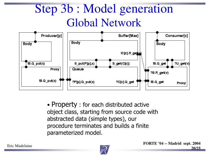 Step 3b : Model generation