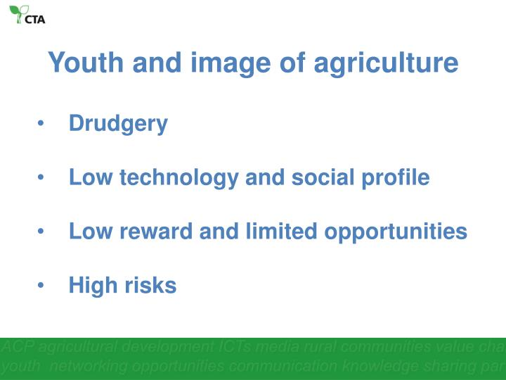 Youth and image of agriculture