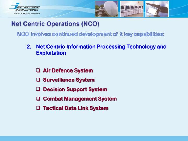 Net Centric Operations (NCO)