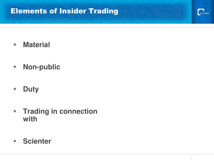 Elements of Insider Trading