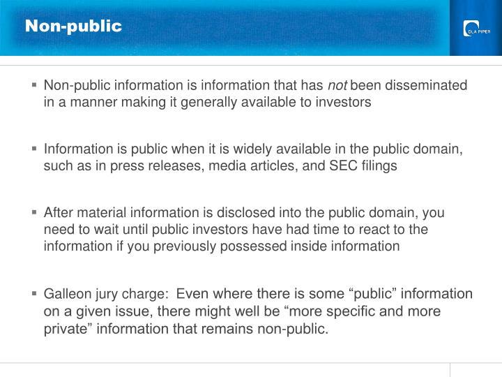 Non-public