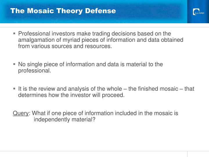 The Mosaic Theory Defense