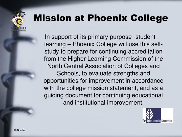Mission at Phoenix College