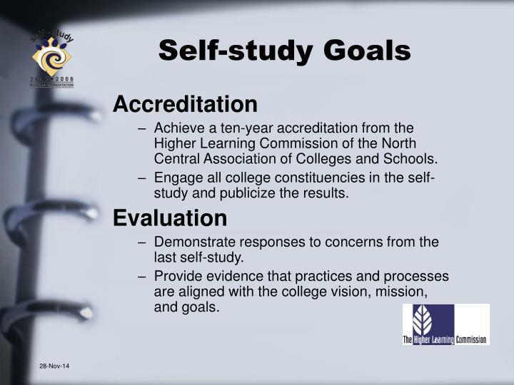 Self-study Goals