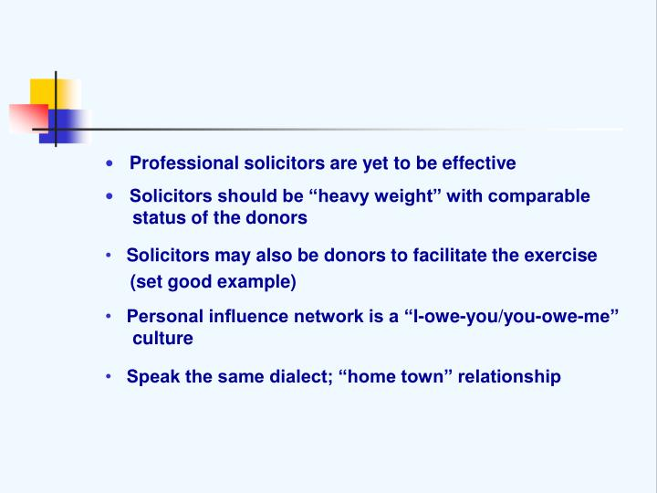 Professional solicitors are yet to be effective