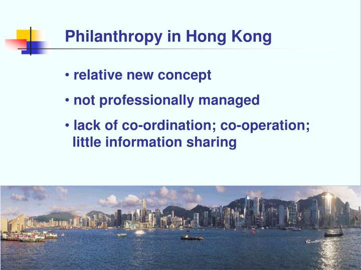 Philanthropy in Hong Kong