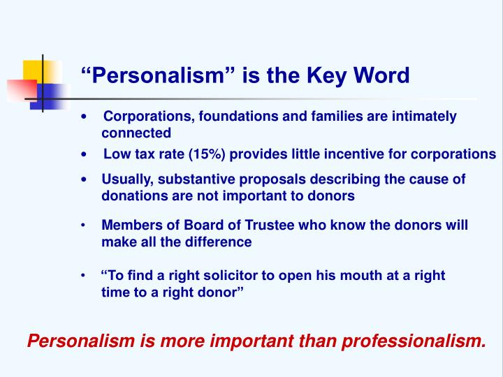 """Personalism"" is the Key Word"