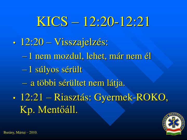 KICS – 12:20-12:21