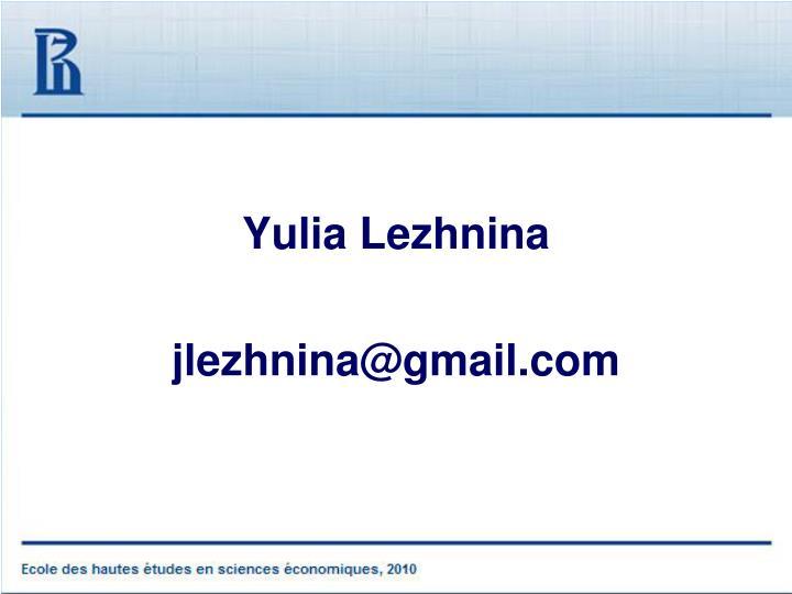Yulia Lezhnina
