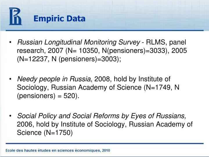 Empiric Data