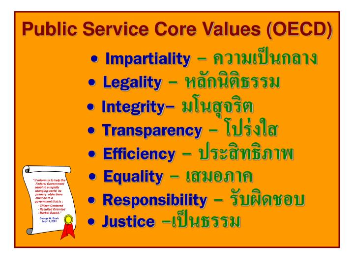 Public Service Core Values (OECD)