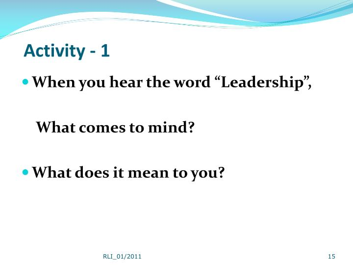 Activity - 1