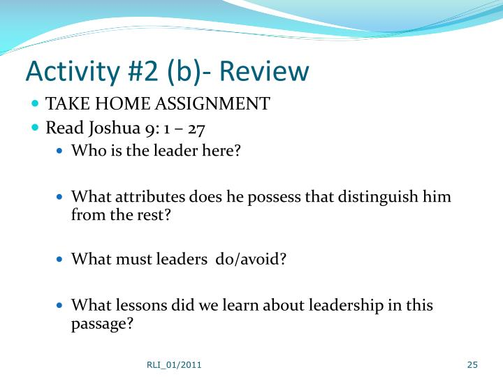 Activity #2 (b)- Review