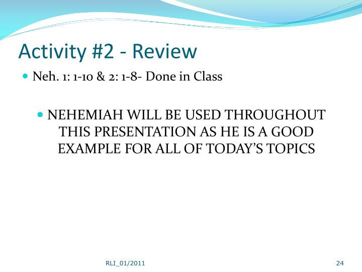 Activity #2 - Review