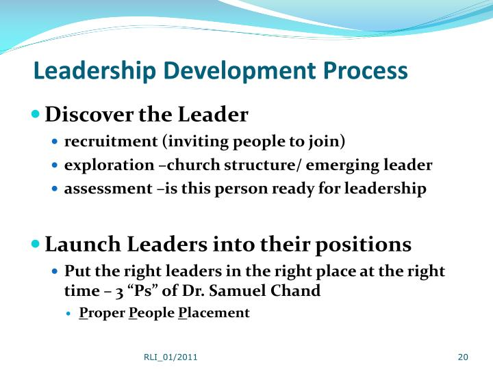 Leadership Development Process