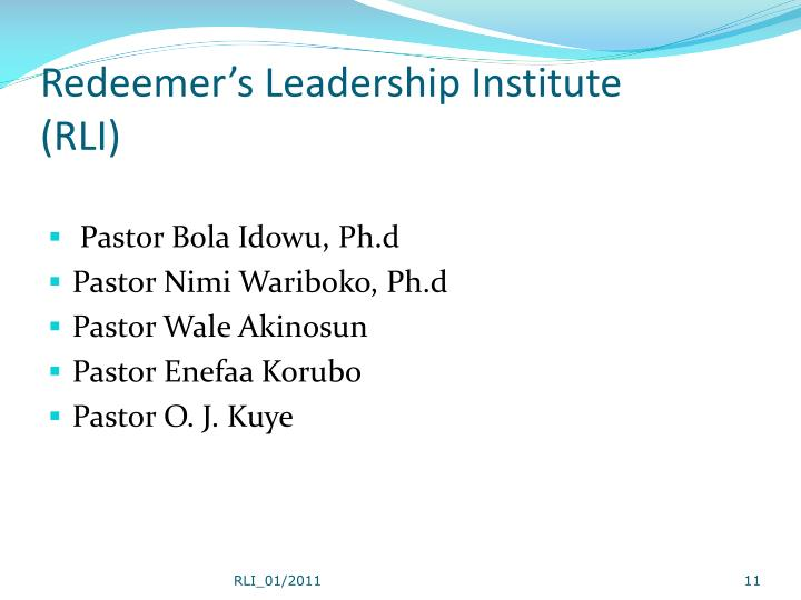 Redeemer's Leadership Institute