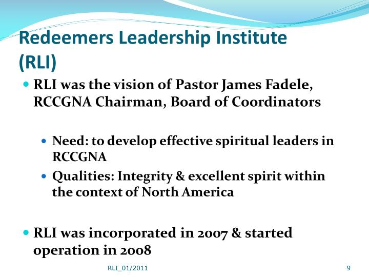 Redeemers Leadership Institute