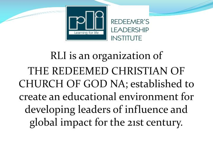 RLI is an organization of