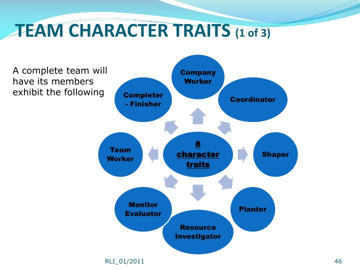 TEAM CHARACTER TRAITS